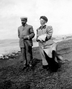 Clarence & Clara Chapin shoreline Oregon circa 1895